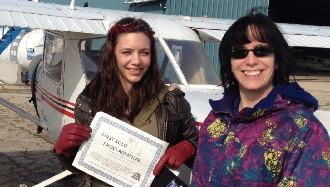 First to Solo Winner, Lindsay, Female Pilot, Winnipeg
