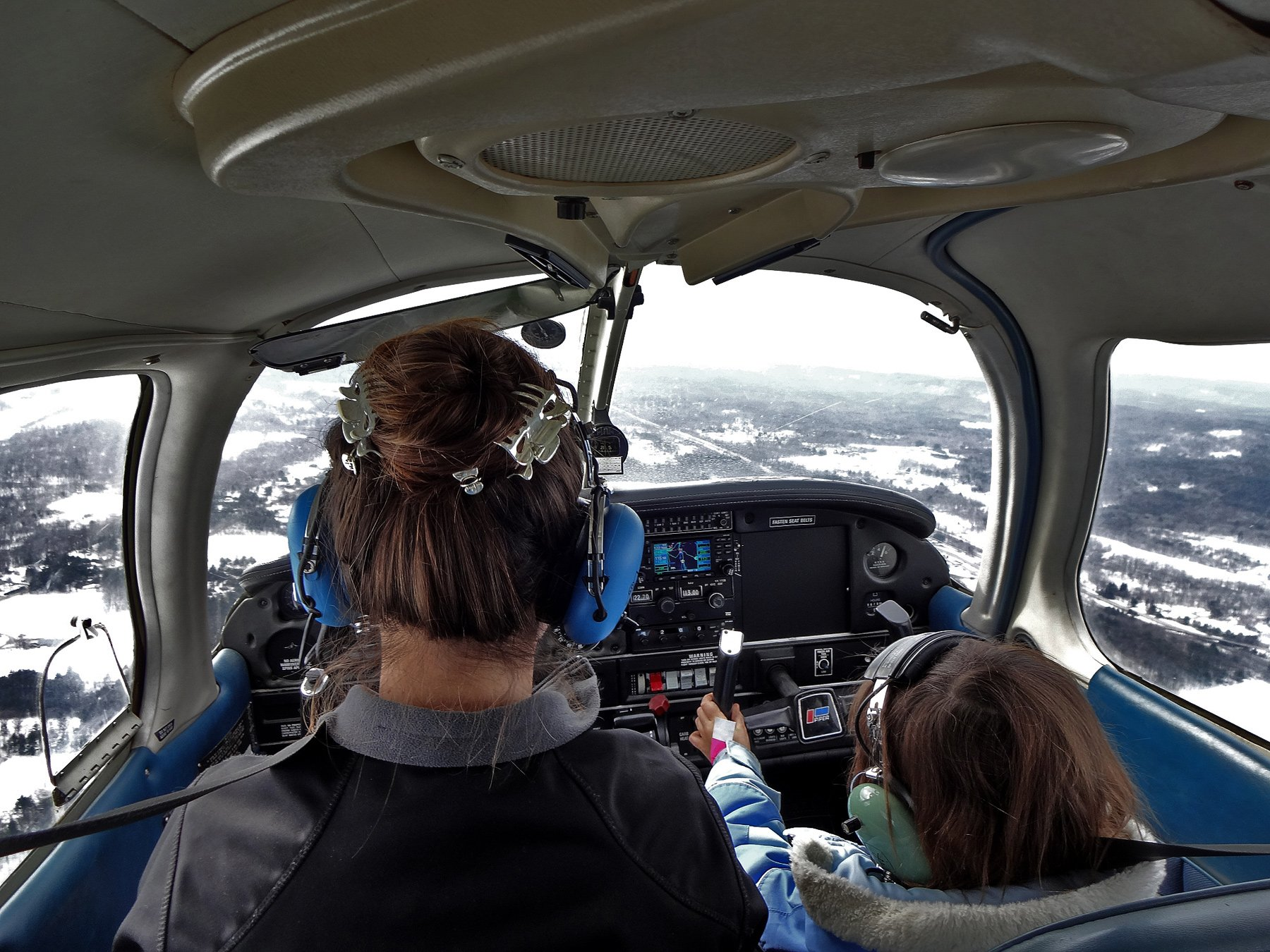 Girls fly too during Women Of Aviation Week