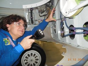 Bombardier female test pilot