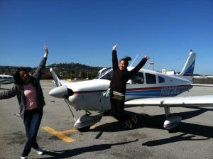 Jumping for Joy After Fly It Forward® flight - USA, 2013