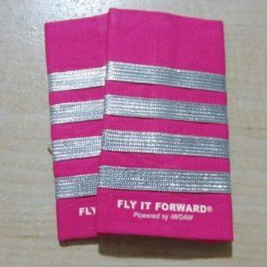 Fly it Forward Pink Pilot Shoulder Pads Epaulettes