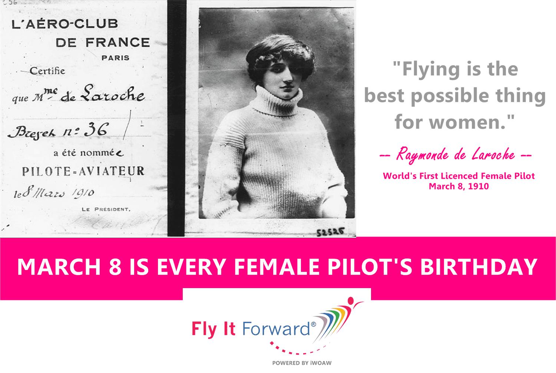 World First Female Pilot Raymonde Laroche quote
