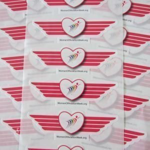 Pink Wing Stickers
