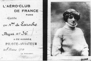 World First Female Pilot Licence Raymonde Laroche - March 8, 1910