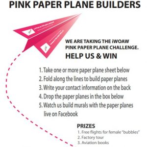 Pink Paper Plane Call to Action